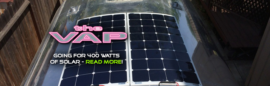theVAP.com is going for 400 watts of solar - read more!