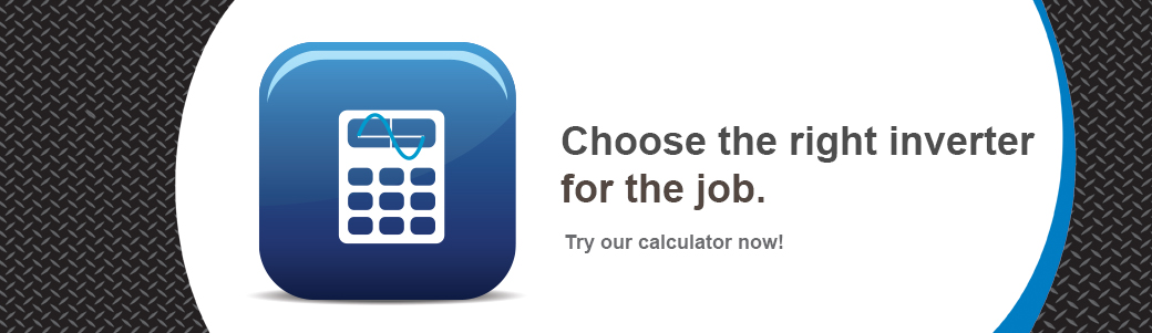A calculator button to choose the right inverter for the work truck job