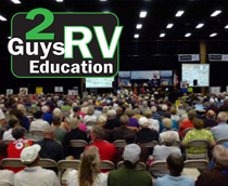 Crowd watching 2 Guys RV Education seminar