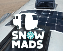 Snowmads.com with a Solar Flex on their Airstream