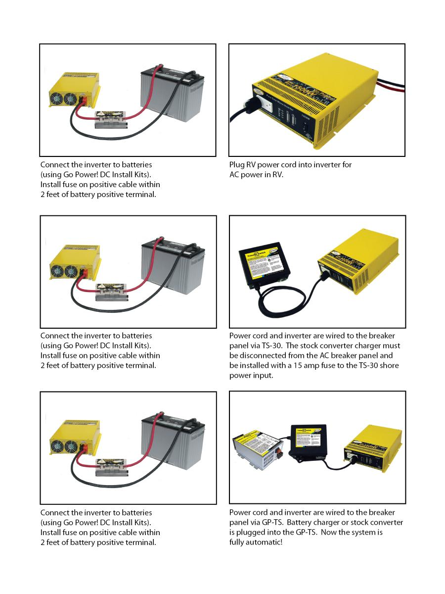 MOBI InverterInstallation inverter installation go power! rv converter charger wiring diagram at mifinder.co