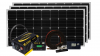 Solar Extreme Charging system consisting of three 170 watt solar modules, 3000-watt IC Series inverter charger and other Go Power! accessories.