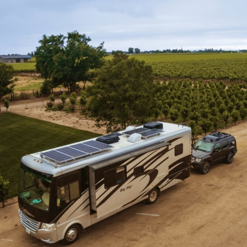 RV with Solar Panels