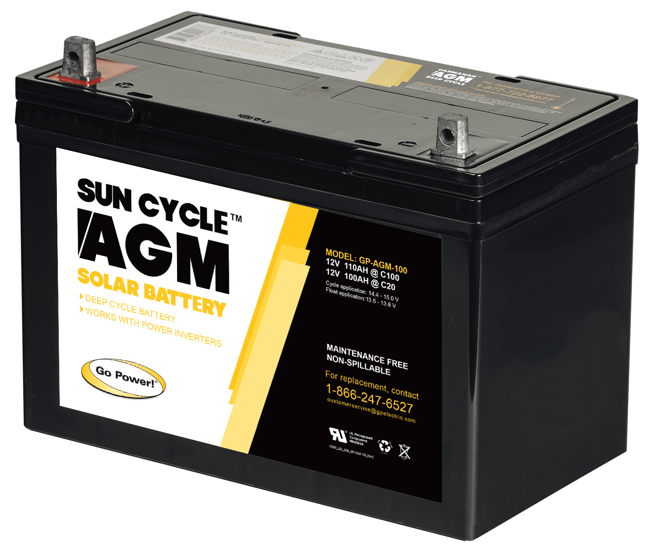 12 Volt Sun Cycle AGM Solar Battery | Go Power