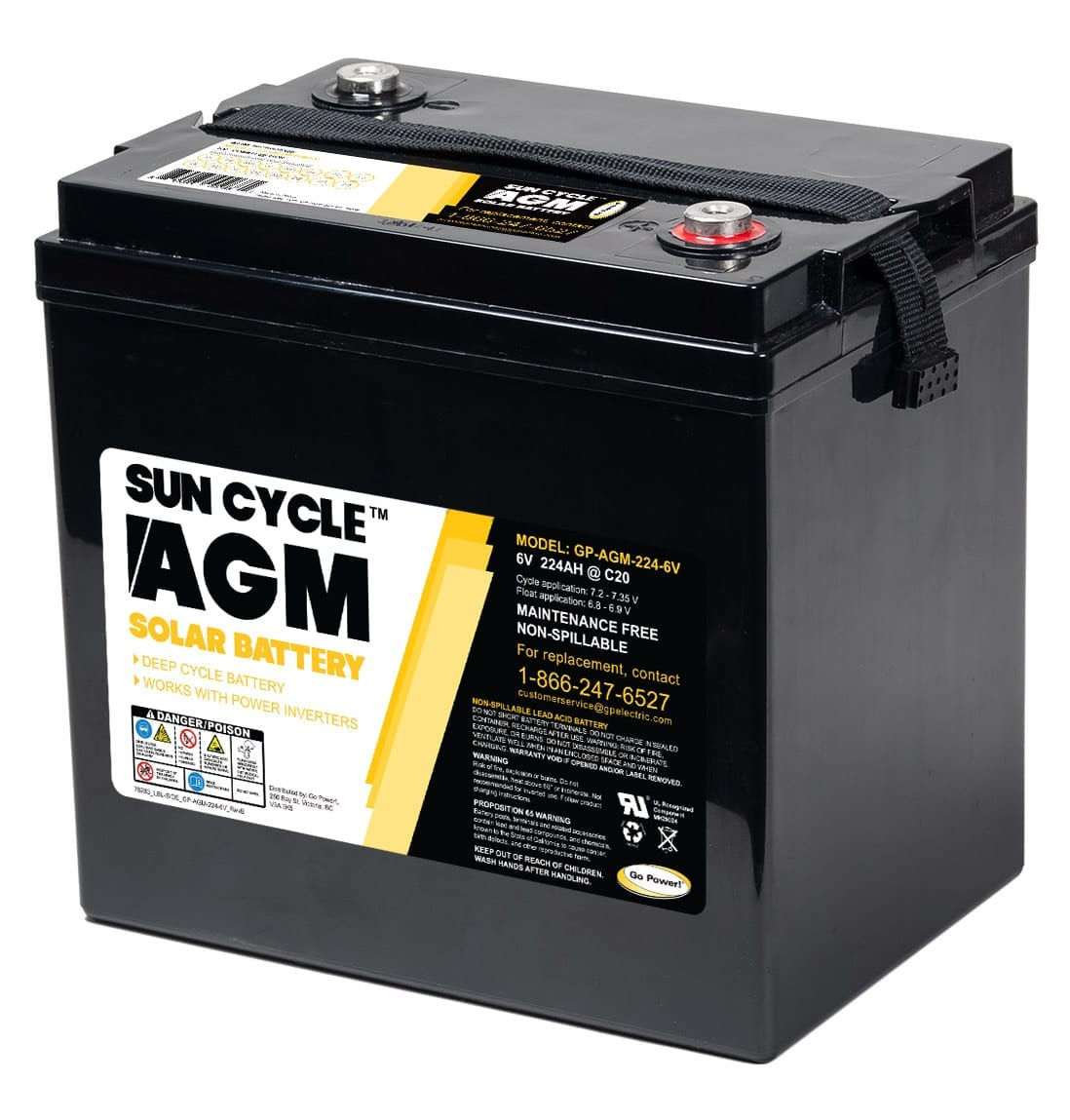 6 volt sun cycle agm solar battery go power. Black Bedroom Furniture Sets. Home Design Ideas