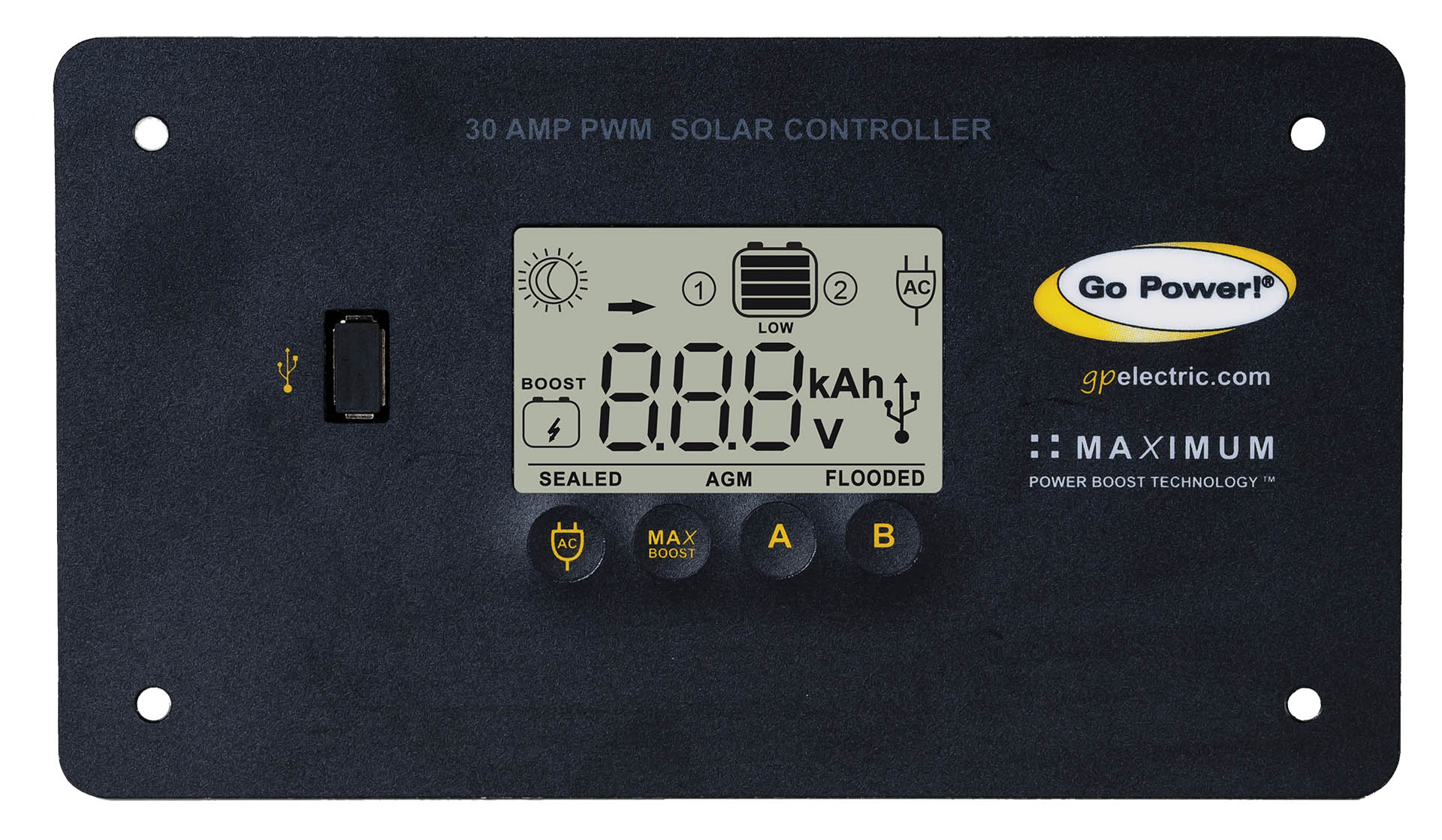 30 Amp Solar Charge Controller Pwm Go Power Products Inverters Block Diagram Electronic Works With Our Any Of Larger Kits Or Complete Systems Accepts 80 500 Watts