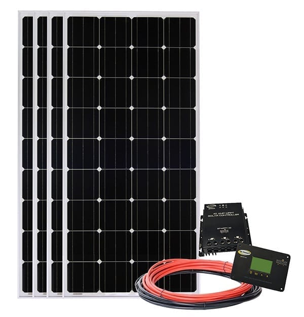Go Power! All Electric Solar Kit - 4 panels