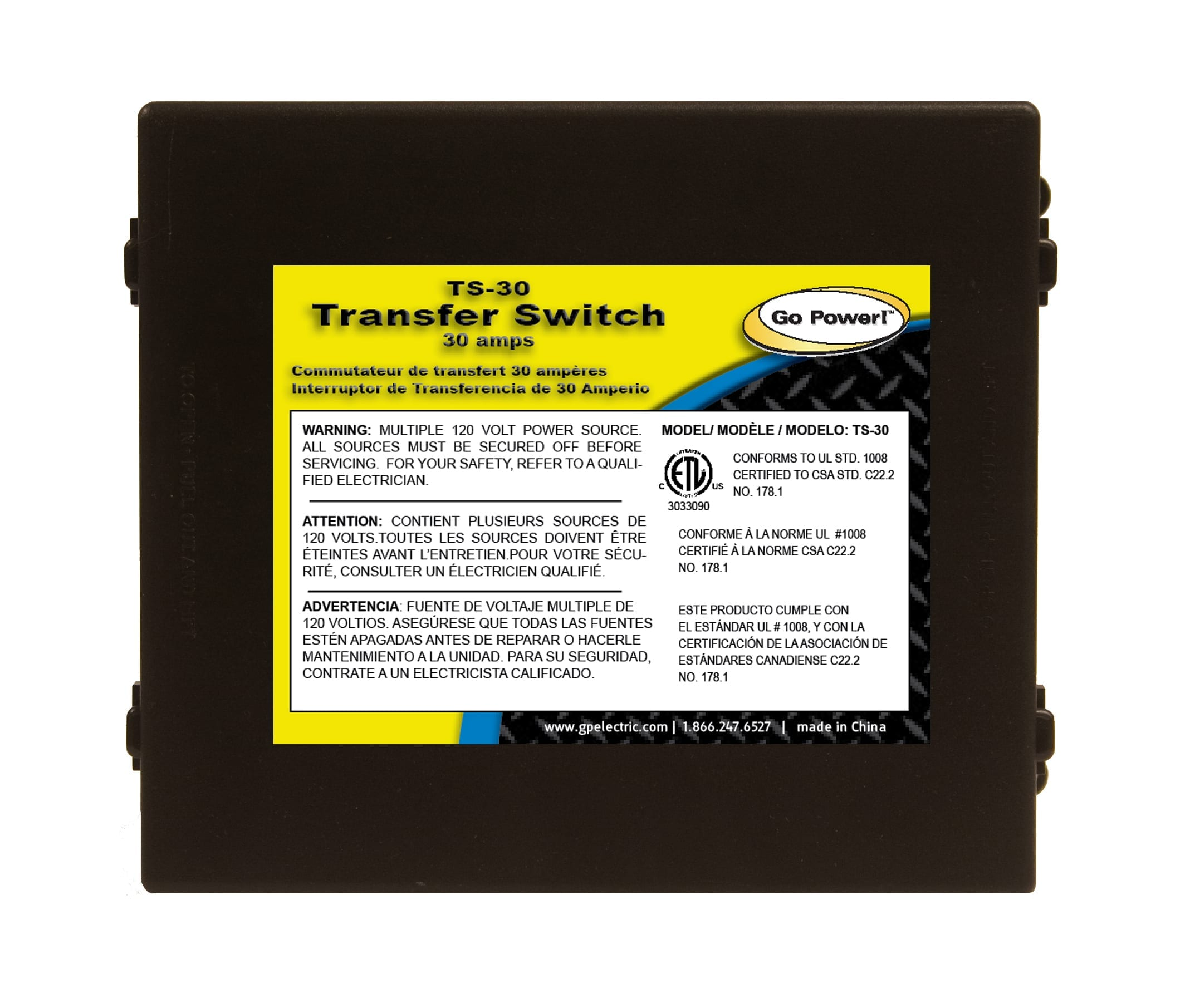 30 amp Transfer Switch | Go Power