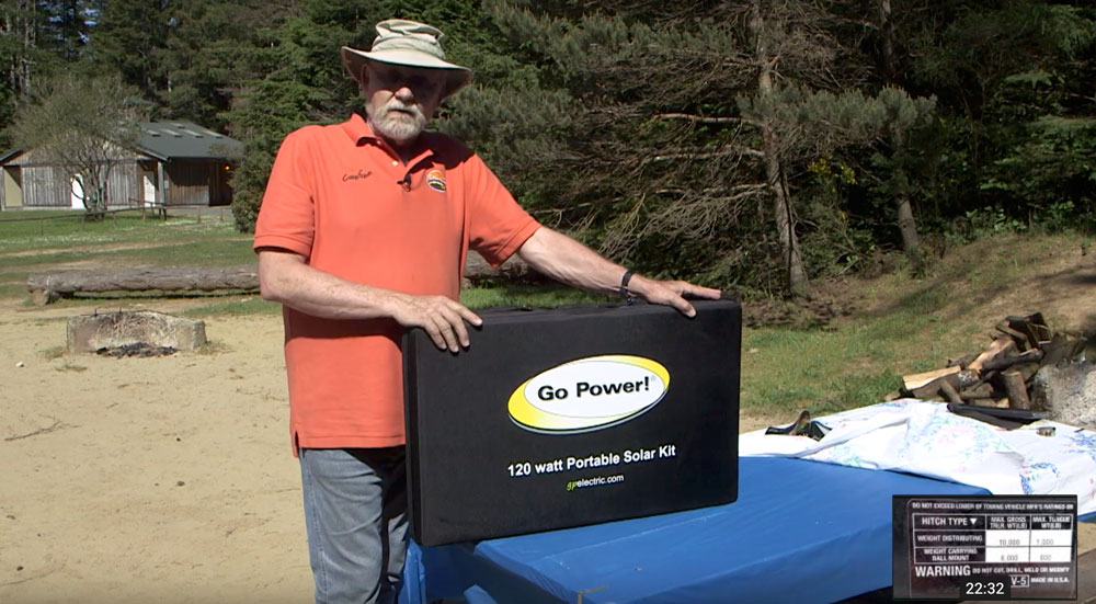 rollin on tv featuring go power portable solar kit