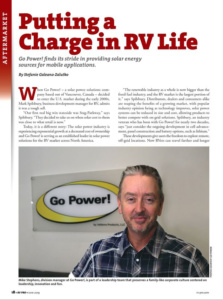 RV Pro Magazine Go Power! feature article